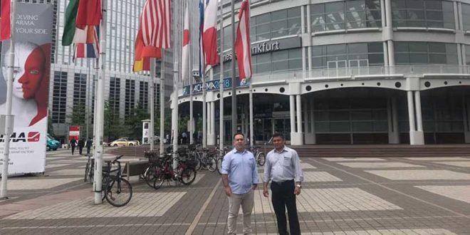 Diretores da Monthac Salas Limpas e Speed Air marcam presença na Achema 2018