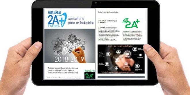 Está no ar o GUIA ANUAL 2A+ FARMA 2018/2019 – CONSULTORIA PARA AS INDÚSTRIAS