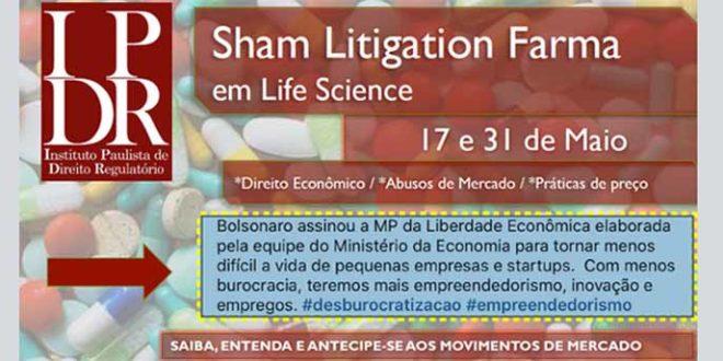 Curso Sham Litigation Farma em Life Science: 50% de desconto por tempo limitado