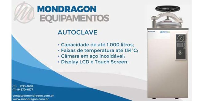 Mondragon oferece diversos modelos de autoclave