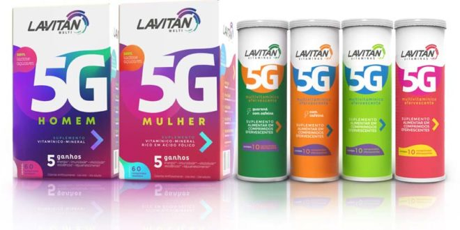 Cimed lança LAVITAN 5G, o primeiro multivitamínico efervescente do Brasil