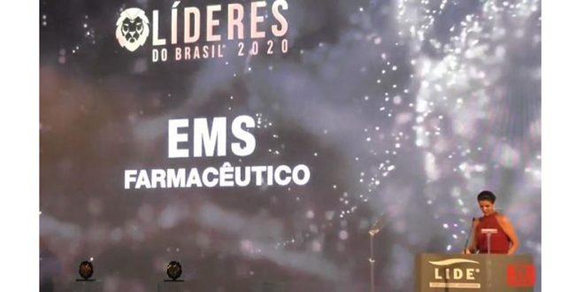 EMS é reconhecida no setor farmacêutico pelo Prêmio Líderes do Brasil