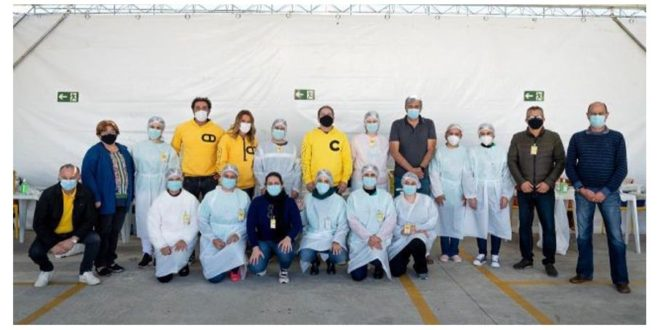 Grupo Cimed imuniza mais de mil colaboradores em ação da Prefeitura de Pouso Alegre-MG
